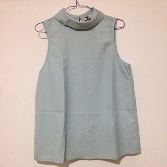 Mint Blue Sleeveless Top