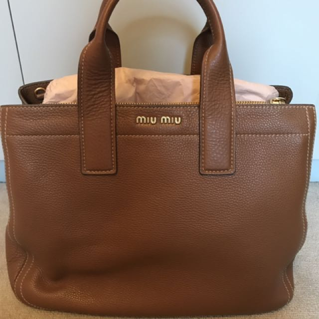 Miu Miu Shopping Tote Bag 100% Authentic