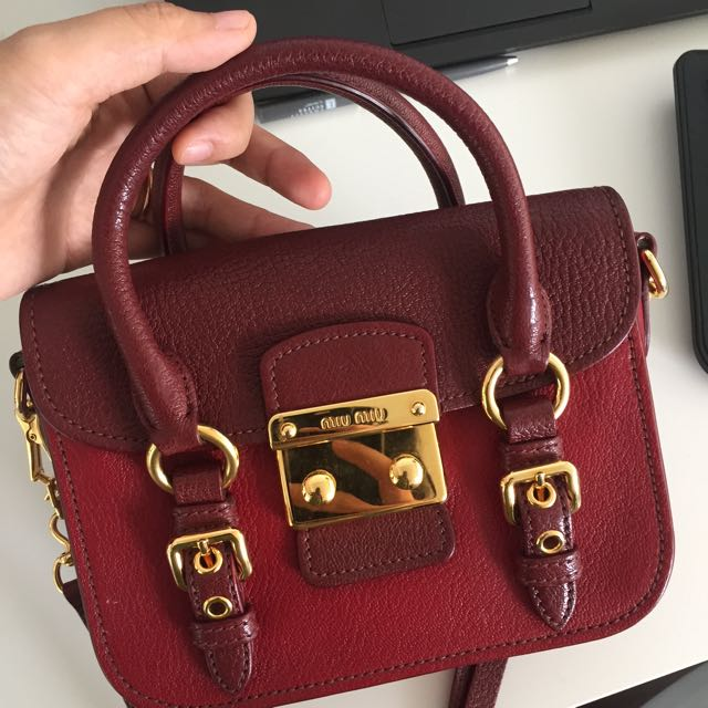 Miu Miu Shoulder Bag Perfect Condition