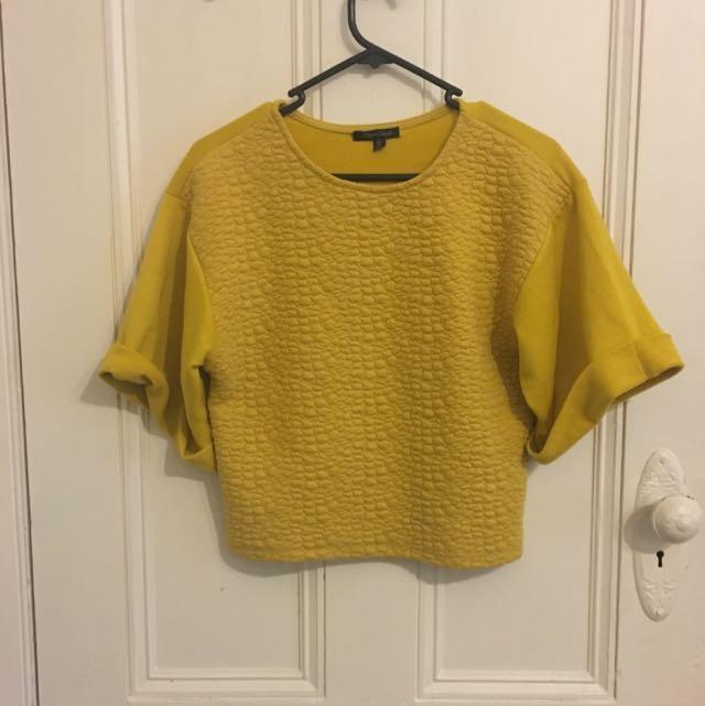 Mustard Knit Top