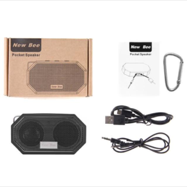 New Bee Mini Waterproof Shockproof Bluetooth Speaker