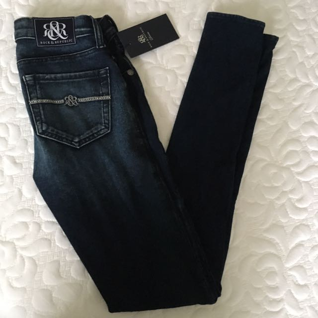 New Skinny Jeans Rock & Republic Size 24 25 NWT Jeggings