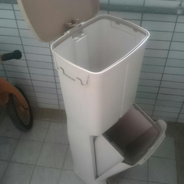 宜得利nitori雙層分類垃圾桶