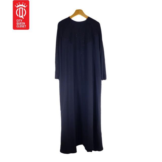 No Brand, Black Arabic style Gamis with beads  Dress/Gamis/Kaftan