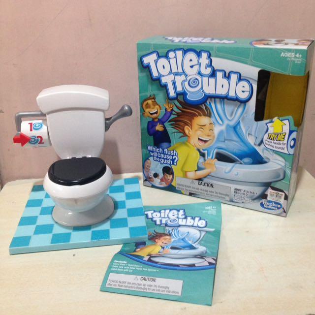 Original Hasbro Toilet Trouble Game Toy