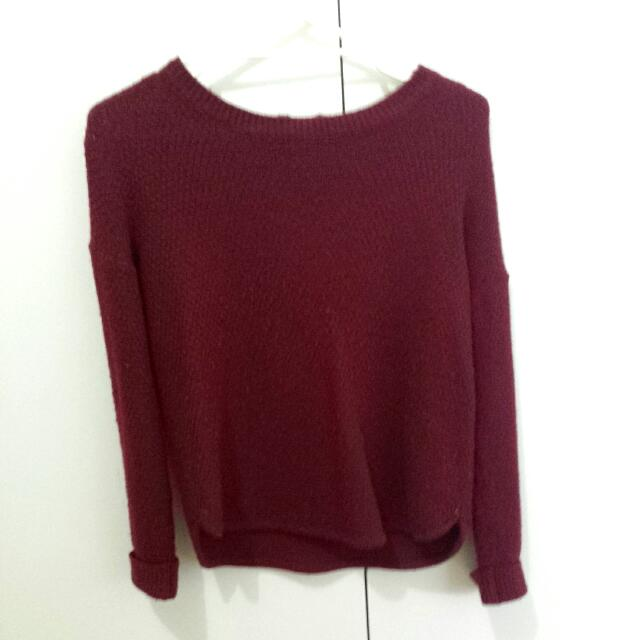 Perfect Condition Maroon Knit
