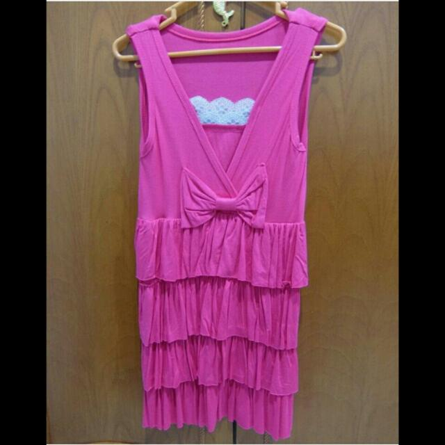 PINK RIBBON DRESS