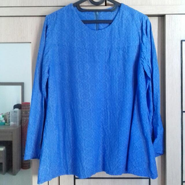 Preloved Atasan Biru