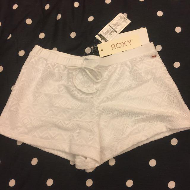 ROXY白色 比基尼 海灘褲 衝浪褲 短褲 熱褲