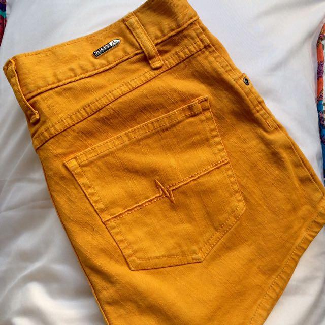 Rusty Mustard Yellow Shorts