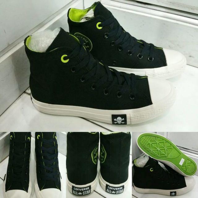 54946a2ca4d5 Sepatu Converse Allstar Chuck Taylor 2 Fashion Skull High