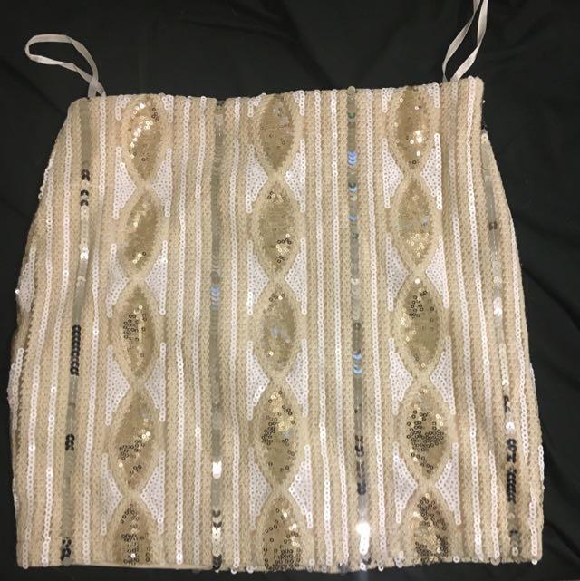 Sequinned Mini Skirt