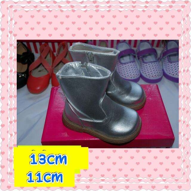 RePRICED Silver Boots