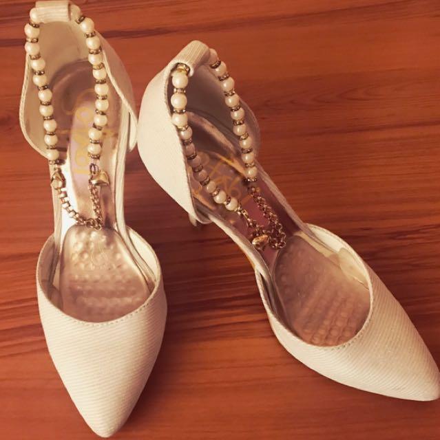 So Fab! White Heels