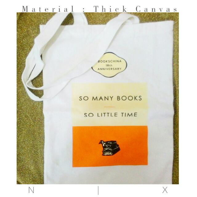 SO MANY BOOKS SO LITTLE TIME × canvas bag for bookworms ×
