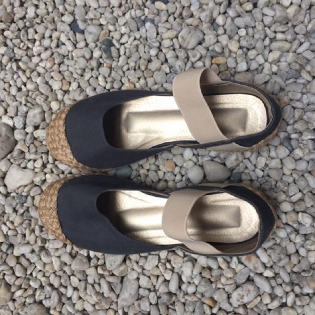 Strapped Denim Sandals
