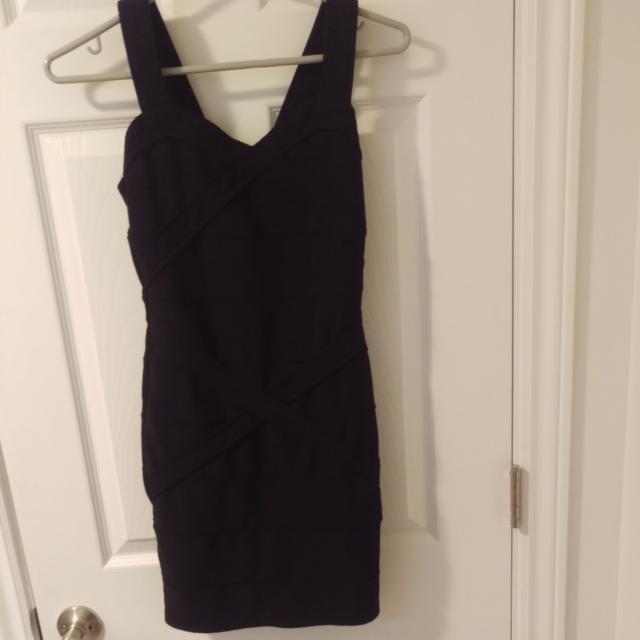 Strappy Black Party Dress