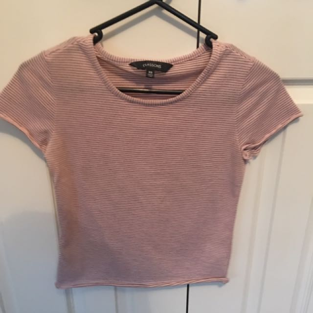 Striped Glassons Tee