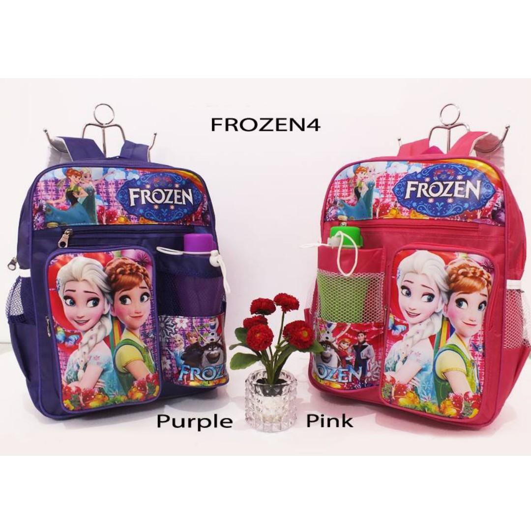 tas sekolah anak perempuan frozen dan kuda poni