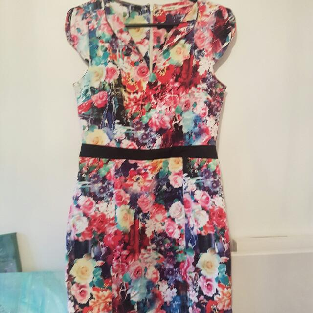 Teaberry Floral Dress