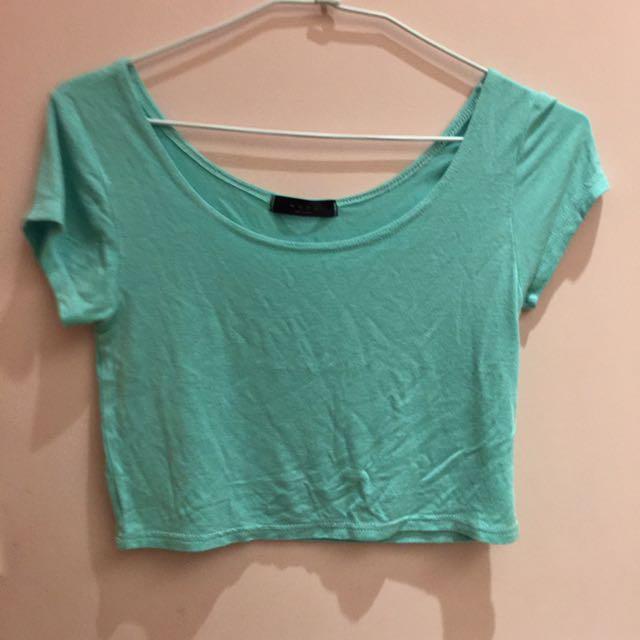 Tiffany 藍 短版短t