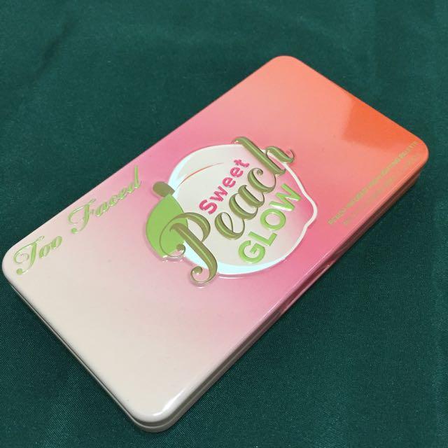 正品Too Faced Sweet Peach Glow 蜜桃🍑腮紅打亮盤