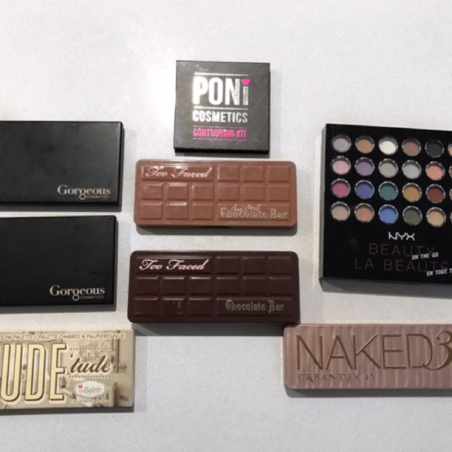 Too Faced, Urban Decay Eyeshadow Palettes