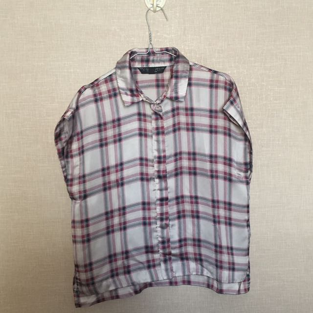 TOPSHOP Plain Satin Shirt