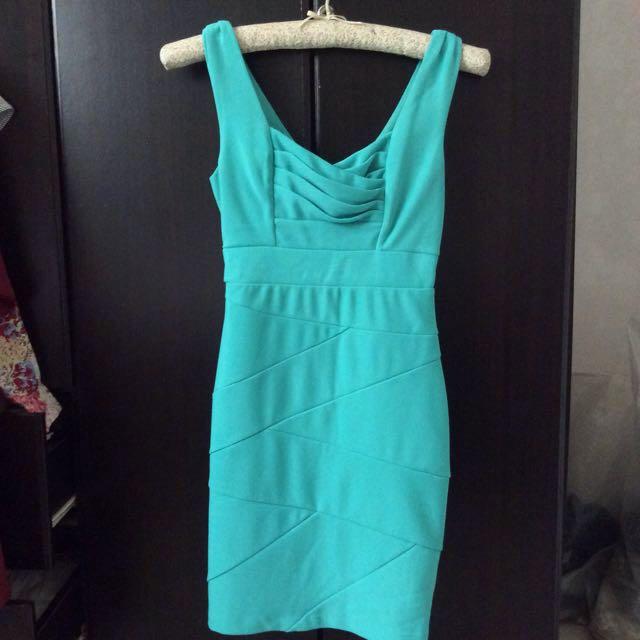 Turquoise Bodycon Dress