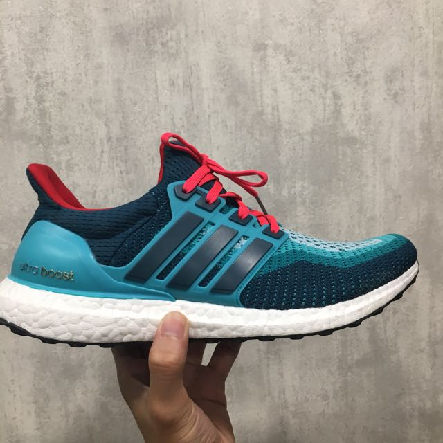 fa942d5ab (Authentic) Adidas Ultra Boost 2.0 Clear Green/ Mineral/ Shock red, Men's  Fashion, Footwear on Carousell