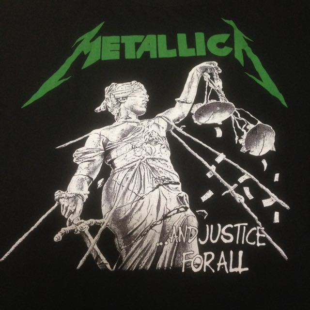 Vintage Metallica And Justice For All T-Shirt Bootleg