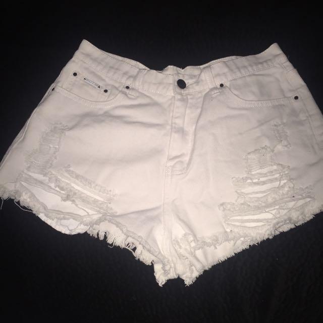 White Lyla & Co Shorts
