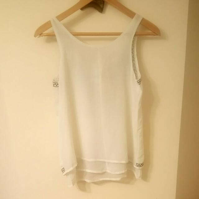 Brand New White and black top