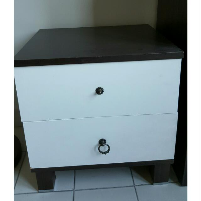 RUSH SALE: Wooden Bedside Table