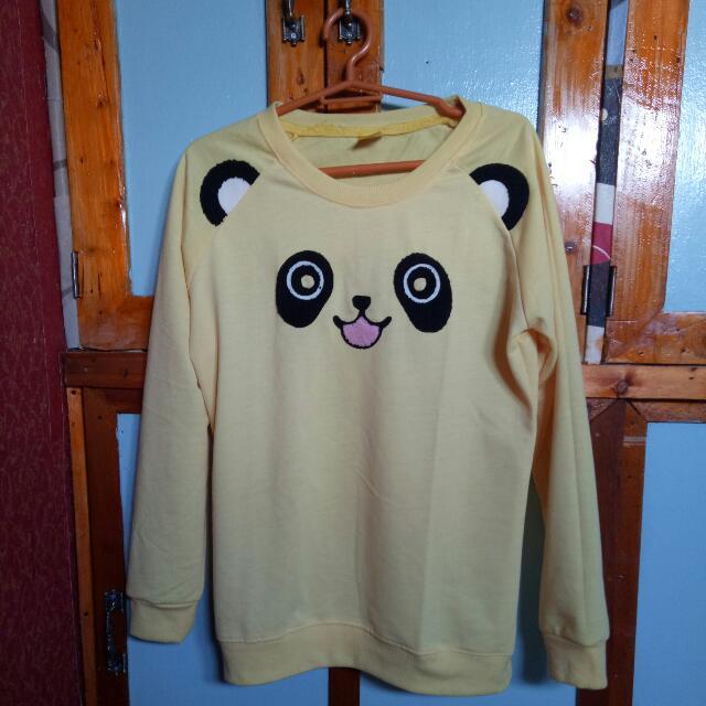 Yellow Panda Sweatshirt