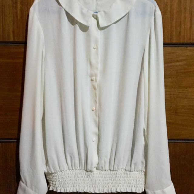 Zara Basics Collared Long Sleeves