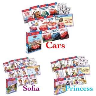 (現貨) 美國入口-Disney Cars / Princess / Sofia 套裝書