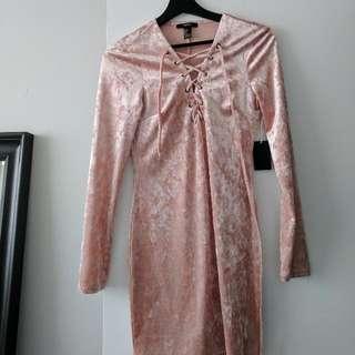 Pink Velvet 'Forever21' Dress