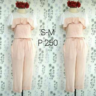 Peach Dainty Jumpsuit