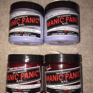 UNOPENED MANIC PANIC Semi-Permanent Hair Dye And Toner