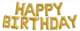 HAPPY BIRTHDAY LETTER FOIL BALLOON SET WITH STRING