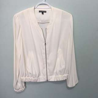 Silky Relaxed Bomber Jacket From Express