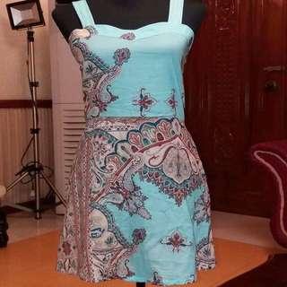 Powder blue Printed Dress