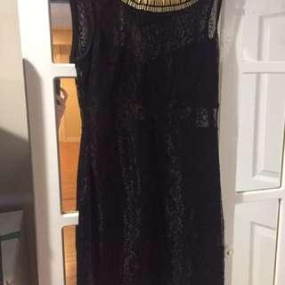 Black Net Dress