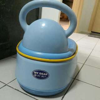 My Dear Potty Also Function As Toilet Seat Cover & Step Up Stool For Kids