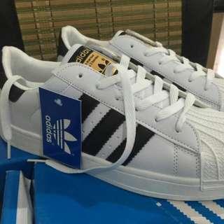 愛迪達Adidas 白黑金標