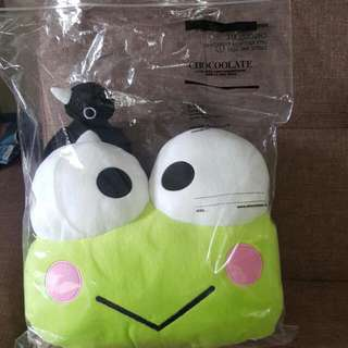 暖手枕 咕  cushion Kerokerokeroppi 青蛙仔 CHOCOOLATE x SANRIO