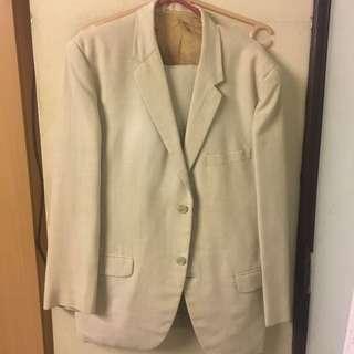 Americana Suit Tuxedo Cream Beige