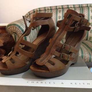Charles & Keith Gladiator Wedges