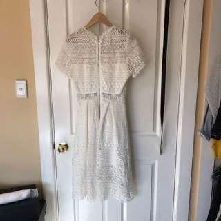 White Crochet / Lace Look Dress
